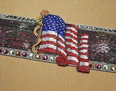 July 4th Celebration Bead Loom Cuff Pattern