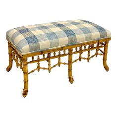 This is a century faux bamboo ottoman that has been newly upholstered in a textured cotton -linen blend check. It is in very good condition. Decor, Chippendale Chairs, Chinese Chippendale, Bench, Chippendale, Faux Bamboo, Ottoman, Bamboo, Furniture