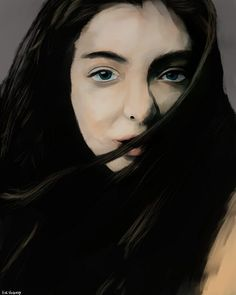 Portrait painting of Lorde