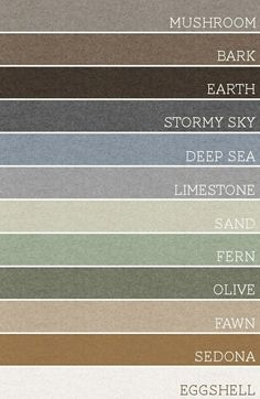 Take any set of 3 of these colors and each room would be amazing. A palette for the whole house..