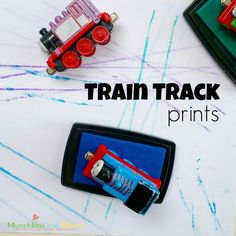A fun and simple art activity for kids who love trains!