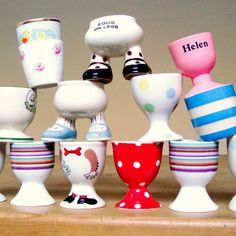 Egg Cup Collection (part of a larger collection)