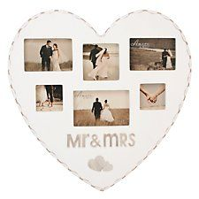 """Amore"" Herzförmiger Mr & Mrs Bilderrahmen"