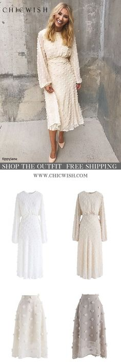 Casual Dresses -Day Dresses T Shirt Dress & Fall Dresses Outfits Spring, Winter Outfits, Modest Fashion, Unique Fashion, Fashion Dresses, Ladies Fashion, Fashion Fashion, Fashion Ideas, Fashion Trends
