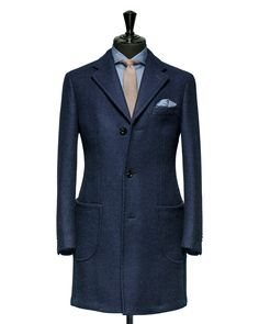 Tailored Coat – Fabric OCS0021 Plain Blue Cloth weight: 520g Composition: 100% Wool