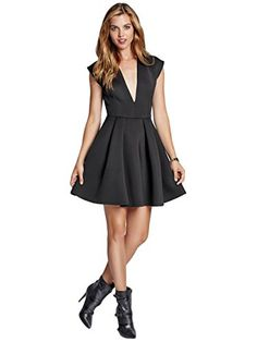 GUESS Women's Sleeveless Scuba Knit Deep V-Neck Dress, JET BLACK (SMALL) GUESS http://www.amazon.com/dp/B00MPCCRVG/ref=cm_sw_r_pi_dp_2wqyub0HHS8VA