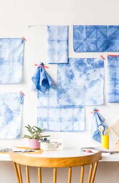 DIY Three Way: A Shibori Textile Project for Your Walls, Your Kitchen, and Father's Day?! - Paper and Stitch