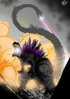 ShinG by plaguebr All Godzilla Monsters, Godzilla Comics, Monster Design, Monster Art, King Kong, Arte Grunge, Godzilla Wallpaper, Creepy Art, Creature Concept