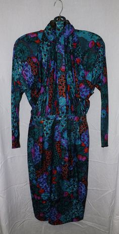 Vintage Anne Crimmins for UMI collections Silk by MorgansCloset225