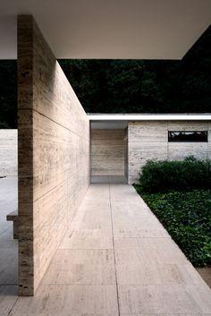 Ludwig Mies van der Rohe (German-American, 1886-1969) | German Pavilion | Barcelona Universal Exposition | 1929 | Re-constructed 1983-1986 | Photo: Agatha O