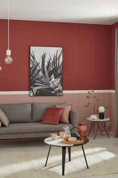 Relookez votre salon selon vos envies ! Inspirez-vous de ces trois idées d'association entre le rose blush et le terracotta ! Ainsi vous donnerez à vos murs un aspect chaleureux et élégant.
