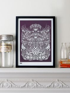 Meadow in Dark Mulberry  decorative screen print by boldandnoble, $53.00