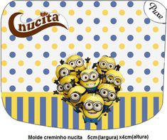 Inspired in Minions: Free Printable Labels. Printable Labels, Free Printables, Champagne Label, Candy Bags, Blogger Templates, I Party, Spongebob, Adhesive, Alphabet
