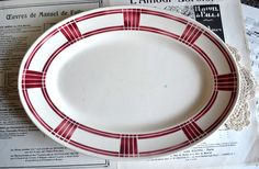 Large French Antique Ironstone Red by shabbyfrenchvintage on Etsy