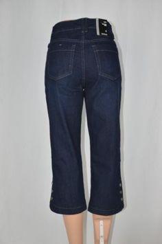 34.54$  Buy now - http://viomb.justgood.pw/vig/item.php?t=n75ujd43584 - Style&Co. Womens 4 Indigo Rinse NEW Mid Rise Tummy Control Capri Pants Mid Calf