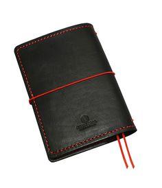 "FLEXI(""M"")Premium- genuine black cow-leather notebook; Leather Notebook, Leather Journal, Black Cow, Personal Organizer, Notebook Covers, Leather Cover, Cow Leather, Zip Around Wallet, Band"