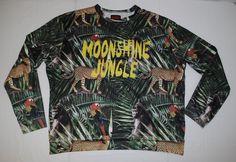Bruno Mars Moonshine Jungle Rare Sweatshirt Pullover Jungle Animal Print Mens 2X #BrunoMars #Sweatshirt