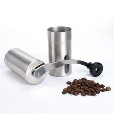 Stainless Steel Ceramic Burr Hand Crank Coffee Grinder