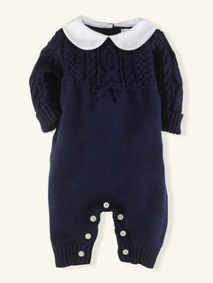 Cotton Cable Coverall - Layette One-Pieces - RalphLauren.com