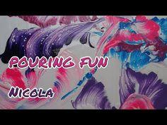 Pouring 43: Fadentechnik (auf Deutsch) - YouTube Acrylic Pouring, Make Art, String Art, Art Projects, Videos, Ink, Abstract, Liquitex, Jambalaya