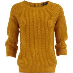 Gold fisherman's sweater ($29) ❤ liked on Polyvore featuring tops, sweaters, shirts, jumpers, women, aran sweater, fisherman knit sweater, 3/4 sleeve button shirt, chunky sweater and gold sweater