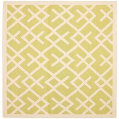 Dhurries Light Green/Ivory 6 ft. x 6 ft. Square Area Rug
