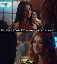 "#Shadowhunters 2x20 ""Beside Still Water"" - Izzy and Clary"