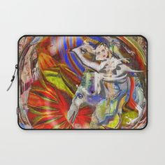 Energy Crossing Laptop Sleeve by crismanart Manipulation Photography, Laptop Sleeves, Framed Art Prints, Wall Tapestry, Vibrant Colors, Fiber, Printed, Unique, Interior