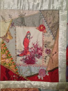 Block 2...Asian Riches...Design by Gloria McKinnon... stitched by Avis Withers