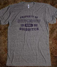 Hufflepuff Quidditch Athletics= MY NEXT GYM SHIRT