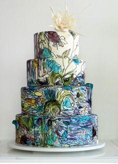artsy wedding cake here i come