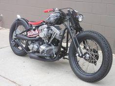 Harley Shovel Von Dutch Custom, Bobber Springer