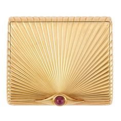 Gold and Cabochon Ruby Cigarette Case, Cartier 14 kt., one round cabochon ruby ap., signed Cartier, c. Geek Jewelry, Jewelry Case, Bullet Jewelry, Gothic Jewelry, Jewelry Necklaces, Art Deco, Vintage Cigarette Case, Cigarette Box, Cartier Gold