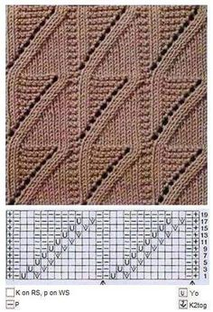 This Pin was discovered by ren Lace Knitting Stitches, Bead Crochet Patterns, Sweater Knitting Patterns, Easy Knitting, Loom Knitting, Knitting Designs, Knitting Projects, Stitch Patterns, Sewing Techniques
