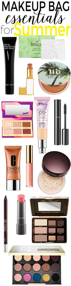 Makeup Bag Essentials for Summer — Keep these makeup products in your cosmetic bag this summer and be ready to take on the season!