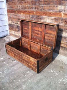 Reclaimed Wood Chest handmade out of salvaged wood. Item can be customized to any size and color. Chest size in picture is 48 x 23 x 18.