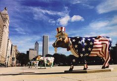 Cow parade in Chicago 1999...I got the opportunity to see this, loved it and now collect the figurines!!