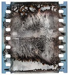 Decomposing 35mm silver nitrate film from the Davide Turconi Project. From the collection of the George Eastman House Motion Picture Dept. Clip #21890: La Mort de Mozart (di. Louis Feuillade, Gaumont, 1909)