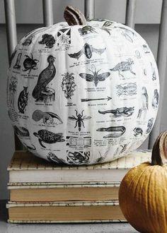 Halloween Decor :: Decoupage Pumpkins - Simplified Bee