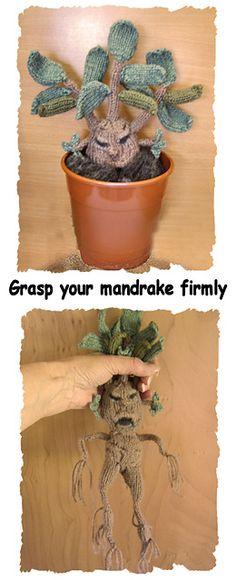 @Cheryl McConnell For next year?  $ KNITTING PATTERN: Ravelry: Mandrake Plant pattern by Phoeny