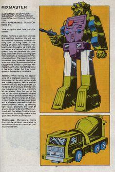 Mixmaster: the least likable constructicon Lego Transformers, Transformers Generation 1, Transformers Decepticons, Transformers Characters, Classic Cartoons, Cool Cartoons, Planet Comics, Hasbro Studios, Transformers Collection