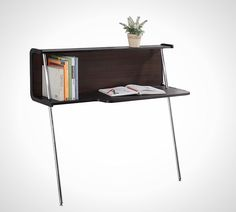 """Enitial Lab Modern Leaning Desk ($138): This curved leaning desk provides double the surface space with its """"C"""" shape. We'd add some under-shelf lighting to keep your pages lit at any time of the day."""