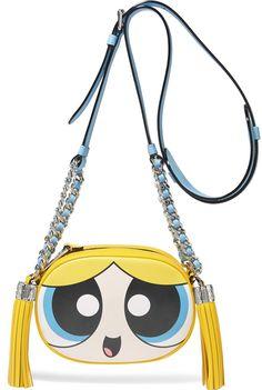 Moschino Powerpuff Girls Bubbles Women's Shoulder Crossbody Leather Bag │Represented by Chiara Ferragni, Paris Hilton