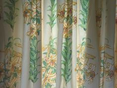 Vintage Laura Ashley Lined Cotton Curtains 'Tiger Lily' Fabric long wide Laura Ashley Fabric, Vintage Curtains, Cotton Curtains, Lily, Traditional, Lilies