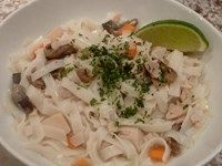 Thai Coconut Noodles with Chicken -- Made with our Savory Herb Chicken Seasoning Mix, this take on the classic Thai Chicken and Coconut Soup is a hearty Crock-Pot meal takes minutes to prepare. Thank you Steve V. for submitting. Visit https://www.facebook.com/CrockPotSeasoningMixes to enter the Crock-Pot™ Slow Cookin' Recipe Contest. #crockpot #slowcooking #recipe #contest #coconutnoodles
