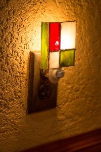 New Stained Glass Night Light Coming Soon - Prairie Stained Glass Workshop Stained Glass Night Lights, Red Green, Lighting Design, Sconces, Wall Lights, Workshop, Home Decor, Style, Light Design