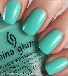 China Glaze Too Yacht To Handle. got this on my toes when i got my nails done and i love it