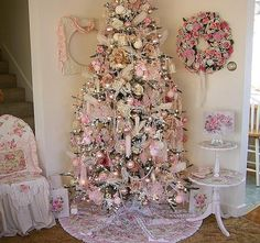 ultimate girly christmas tree, or your grandmothers house