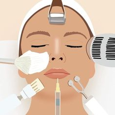 Few people would deny that medical aesthetic treatments have the power to change up your look (albeit temporarily). Beauty Salon Logo, Skin Clinic, Chemical Peel, Face Skin Care, Instagram Highlight Icons, Cosmetology, Beauty Skin, Fancy, Makeup Illustration