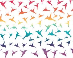 Birds Sunset  #estampa #print #pattern #colorful #cores #beautiful #passaros #birds #fly #natureza #nature #animal